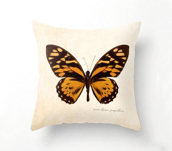 Orange Butterfly Pillow Butterfly Home Decor Butterflies