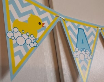 RUBBER DUCKY Baby Shower Banner - It's a Boy!