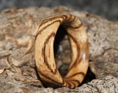 Wooden Ring - any size- Zebra Wood Ring