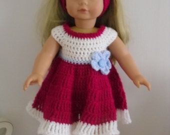 PDF Crochet pattern for 18 inch doll, American Girl Doll or Gotz doll