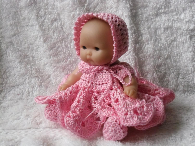 Crochet Pattern Baby Doll : Crochet pattern for Berenguer 5 inch baby doll dress set