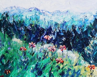 "High Mountain Meadow, Colorado. Ceramic Tile, 8"" x 10"".  Free shipping in U.S."