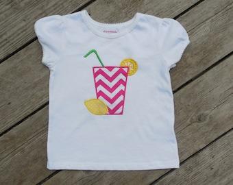 Girl's Personalized Pink Lemonade Shirt