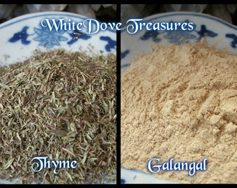 GALANGAL ROOT Powder - THYME Dried Herb - Choice 1oz Culinary Spice Altar Incense