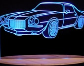 "1972 Camaro Acrylic Lighted Edge Lit LED  Sign  13"" VVD1 Full Size USA Original"