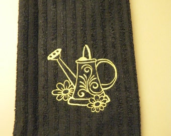 Embroidered Terry Cloth Kitchen Towel