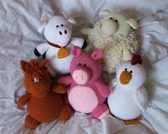 Barnyard 5 Pattern Bundle - Amigurumi Plush Crochet PATTERNS ONLY (PDF)