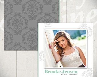 Senior Album Template: In Full Bloom - Graduation Sign Book Template for Photographers 10 x 10
