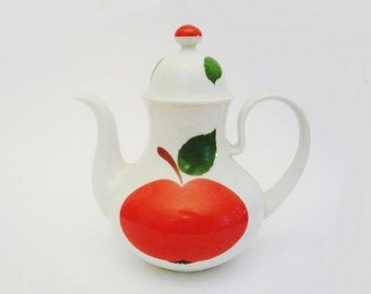 Vintage Tea Pot with Patricia Apple Pattern