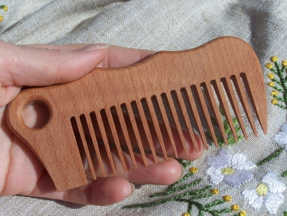 Comb Wooden hair Care comb Brush Spa massage Healthy hair Wooden combs Carved wood Herbal comb Gift Wood comb Coffee color Wood combs
