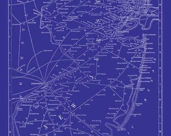 New Jersey Map Blueprint
