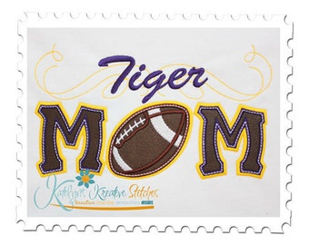 Tiger Mom Applique with a Twist - Football