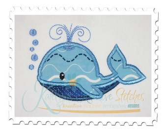 Whale Applique