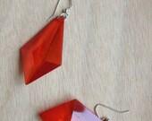 Red Dangle Gem Earrings