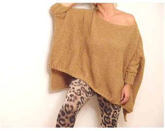 Hi Lo Camel Shade Sweater.