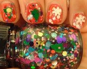 Decorate the Tree Indie Nail Polish Winter Holiday Multi Glitter Topcoat