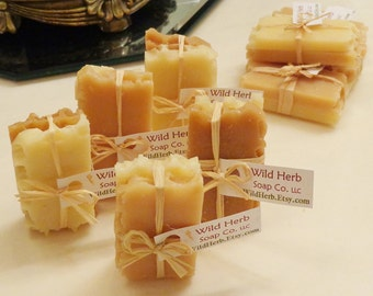 5 MINI HONEY Soap Sets (2 slice packs) ADORABLE Goody Bag Favor - Honeycomb Bee theme, Rustic, Pooh bear, Baby, Weddings, Bridal Showers