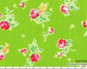 Flower Sugar Spring 2013 by Lecien - Tossed Roses on Green 30749 60