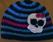 Monster High Inspired Beanie.....Choose your size