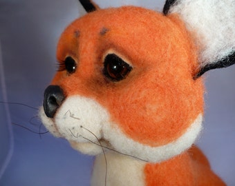 Fox ,Needle Felted Soft Sculpture Made to Order by Grannancan