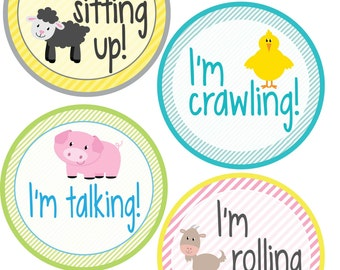 ADD ON My First Stickers for Baby, My First Stickers  - Farm Animals -  Baby My First Stickers -Baby Shower Gift - Baby