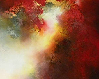 """Large Canvas Abstract Painting by Simon Kenny """" Witness"""""""