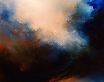 "Large Abstract Oil Painting by Simon Kenny "" Penance"""