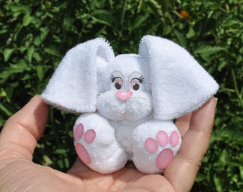 Baby Washcloth Bunny, WashAgami ™, Instructional Video (New HD quality video)