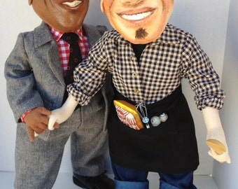 Chef Michael Symon OOAK Cloth Art Doll/The Chew/For Collectors/Shipping included