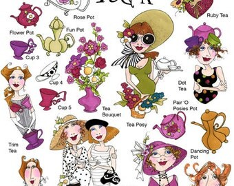 Ladies Tea II Embroidery Design Collection - CD