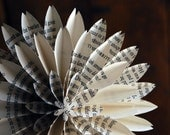 The Hobbit, J.R.R.Tolkien Book Pages, Book Blossom, Paper Dahlias, One Origami Paper Flower on a stem