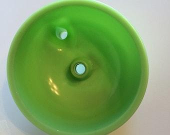 15% OFF-Vintage Jadeite Juicer Sunbeam Mixer Attachment Bowl Green Glassware