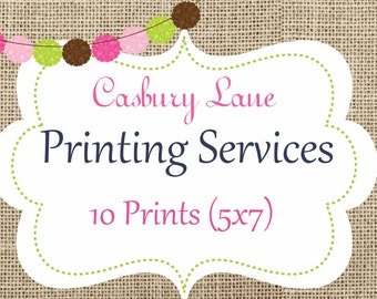 Casbury Lane Professional Printing Services-10 Double Sided Invitations with Envelopes