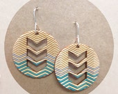 Custom order for LAURA - Laser cut wood - Painted Silver and Teal