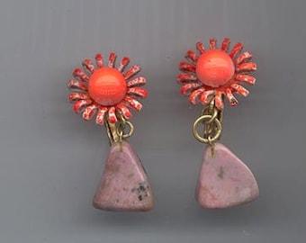 Funky vintage earrings signed Vendome