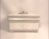 Wedding Program Box, Lace and Fineness Petite Wedding Card Gift Box, Program Box Memory Box, Jewelry Box,