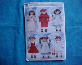 Butterick 5589 American Girl Pattern.