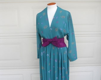 Vintage 70s Wrap Dress . Jerry Silverman by Saulino