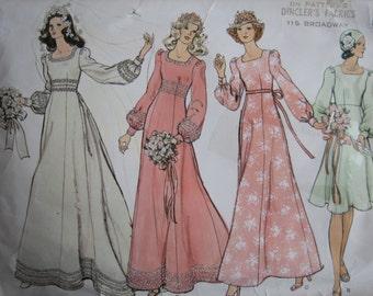 Vogue's Bridal Design Pattern 2981 Misses' Bridal Dress  1970's