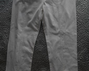 SALE 50% off White cotton capri pants trousers from Sportmax Made In Italy US 10, UK 12/14