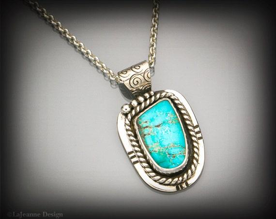 Havasupai - Southwest Style Turquoise & Silver Necklace
