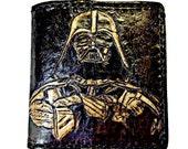 Star Wars Movie - Star Wars Gift - Darth Vader - Star Wars Wallet - Husband Gift - Anniversary Gift. Holds 12 cards has 2 bill slots