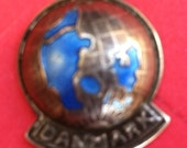Ela Silver Enamel 830 Globe Charm Danmark Denmark Scandinavia