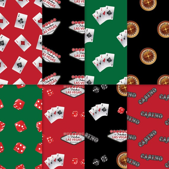 Casino theme paper black red green 2 casino paper for Themed printer paper
