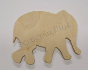 Elephant Wooden Shape - 1/2 inch