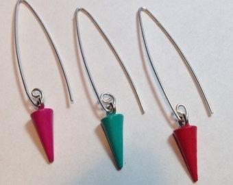 Suspended Spike Earrings - Custom Colors Available!