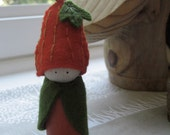Pumpkin peg doll
