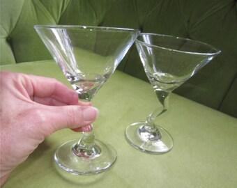 2 Small Drunken Martini Cocktail Glasses