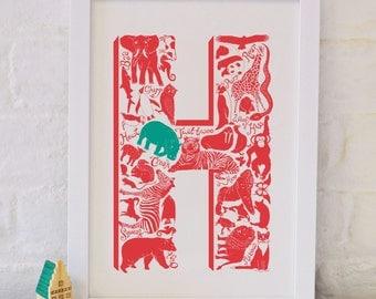Animal Alphabet Letter H