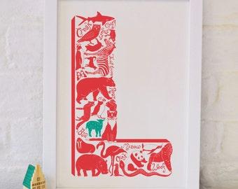 Animal Alphabet Letter L